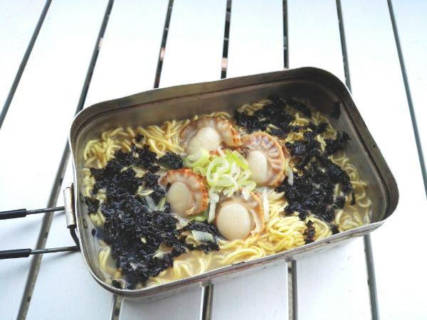 【レシピ】BBQで余ったホタテをラーメンにいれたら超おいしかった。