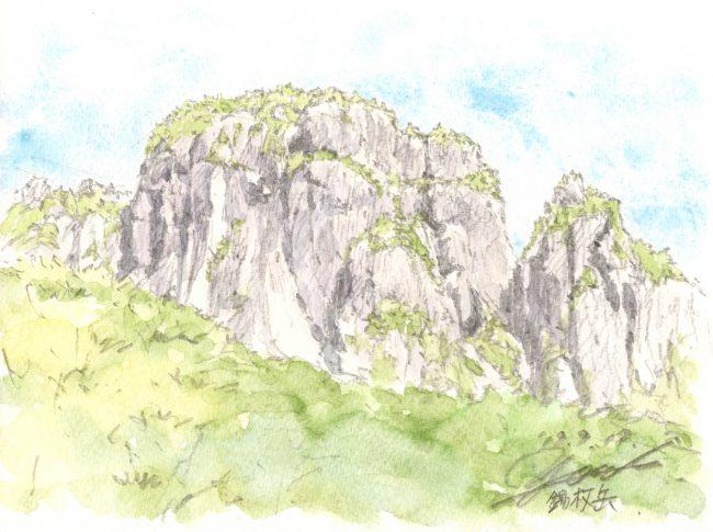 筆とまなざし#147「思い出が詰まった岩場、錫杖岳『左方カンテ』ルートへ。」