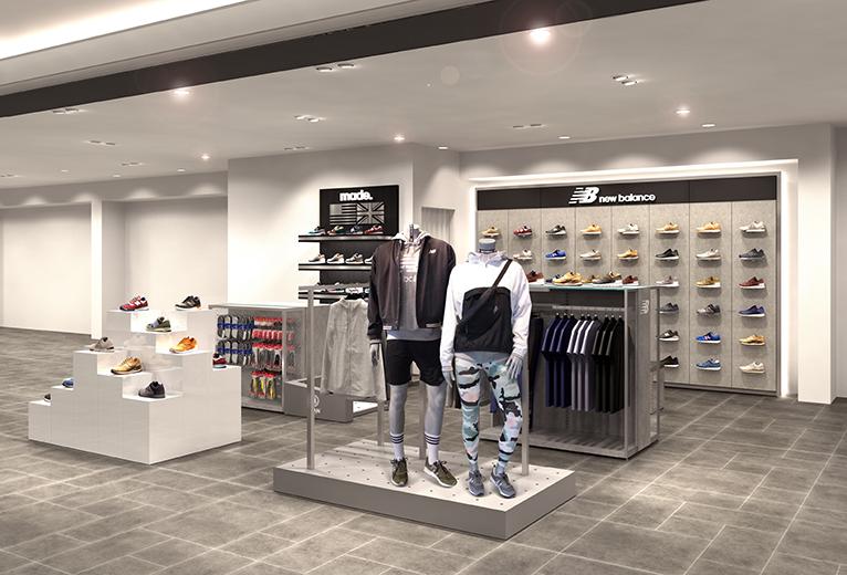 ニューバランスストアが「阪急うめだ本店」に10月2日よりオープン。