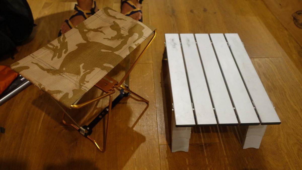 コンパクトになるテーブル・椅子 山ごはんタイムを快適に過ごす