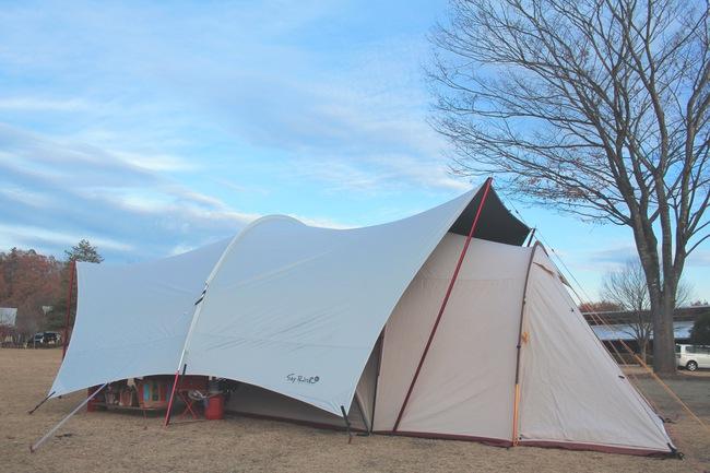 関東屈指の高規格キャンプ場グリンヴィラの冬キャンプ