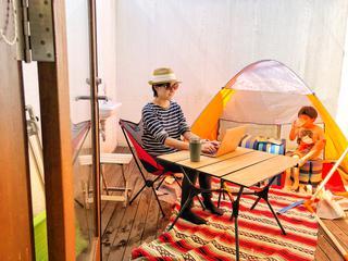 【おうちdeキャンプ】アウトドアグッズが大活躍★ベランピングで子供と一緒に在宅ワークをやってみた!