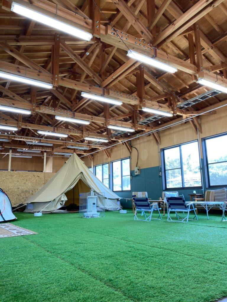 EGキャンプ場(1日1組限定の屋内型プライベートキャンプ場)島根県雲南市に本オープン