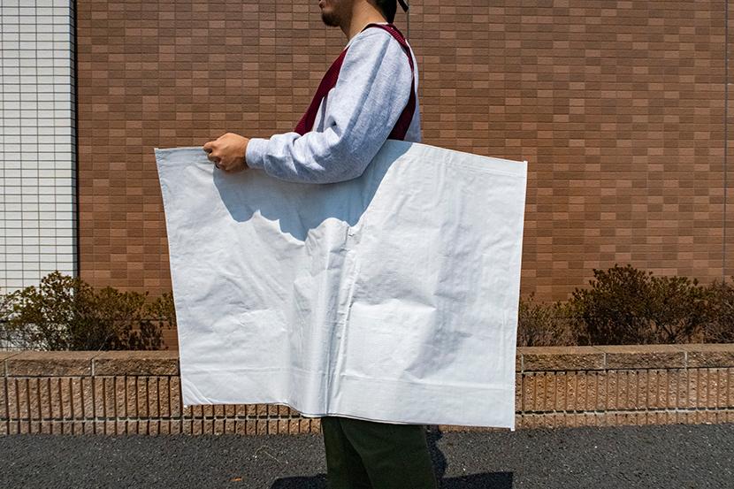 無印良品のリサイクルバッグがキャンプでも重宝しそう 150円とコスパ最高!