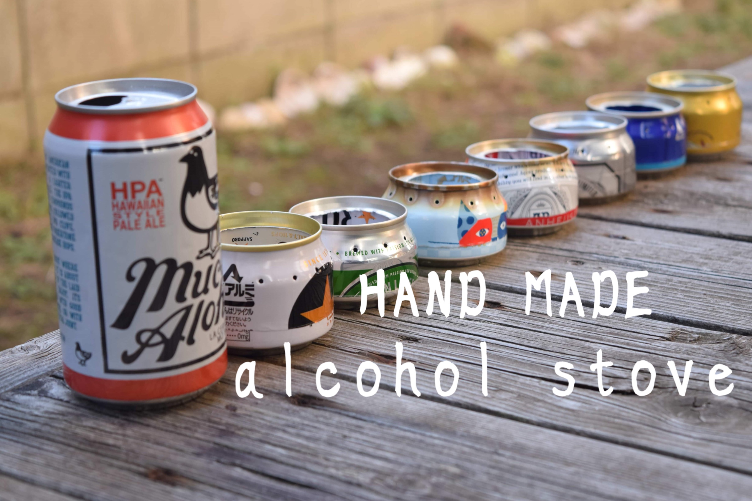 アルミ缶1つでつくる自作アルコールストーブ!ナイスパッケージなの作ろう!