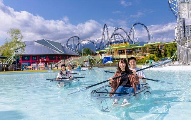 富士急ハイランドでクリアカヌー体験~WATER CRAB~が登場