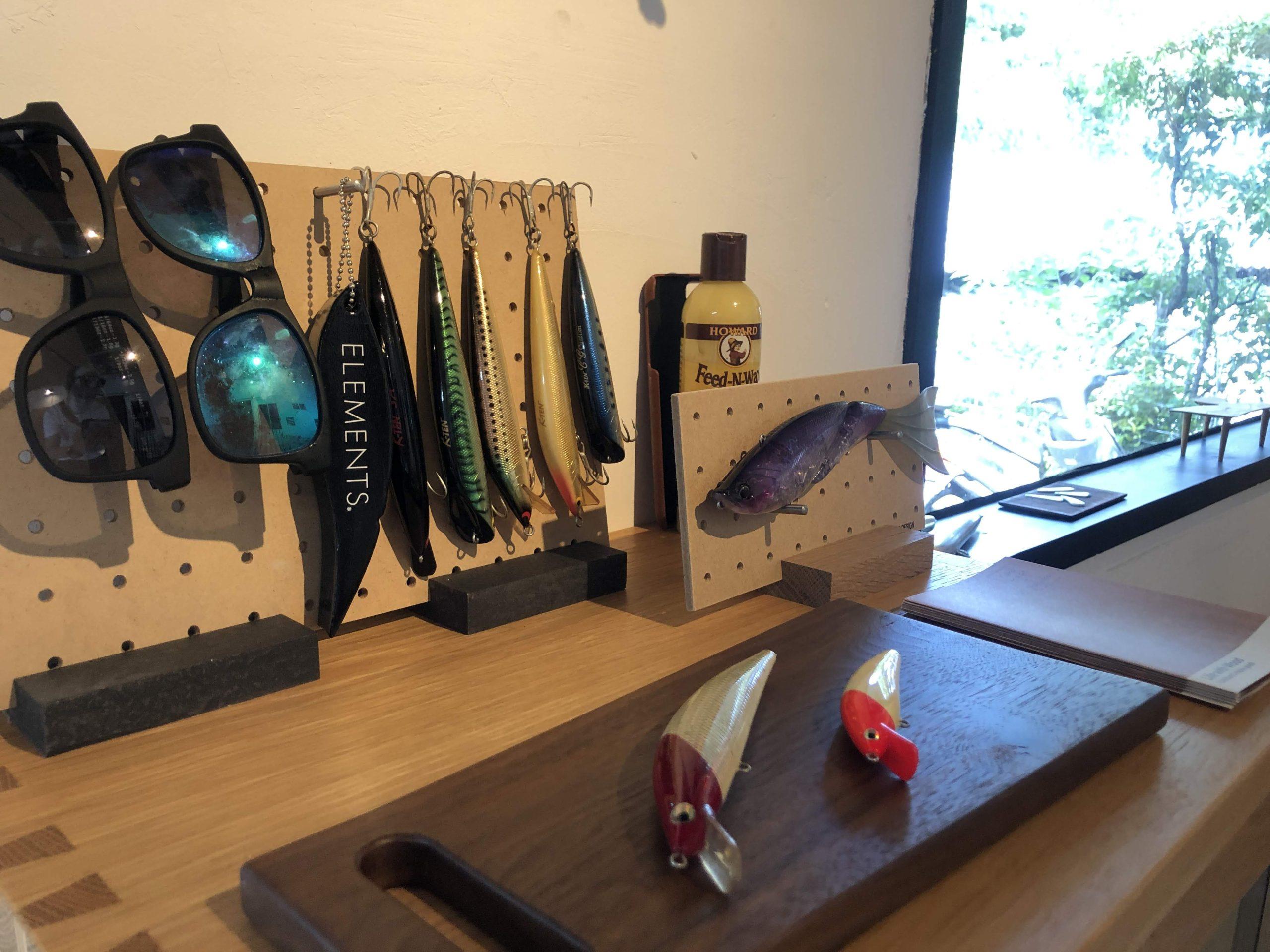 糸島にあるウロコデザイン 濱本さんの工房でロッドスタンドの件でご挨拶をしてきました!