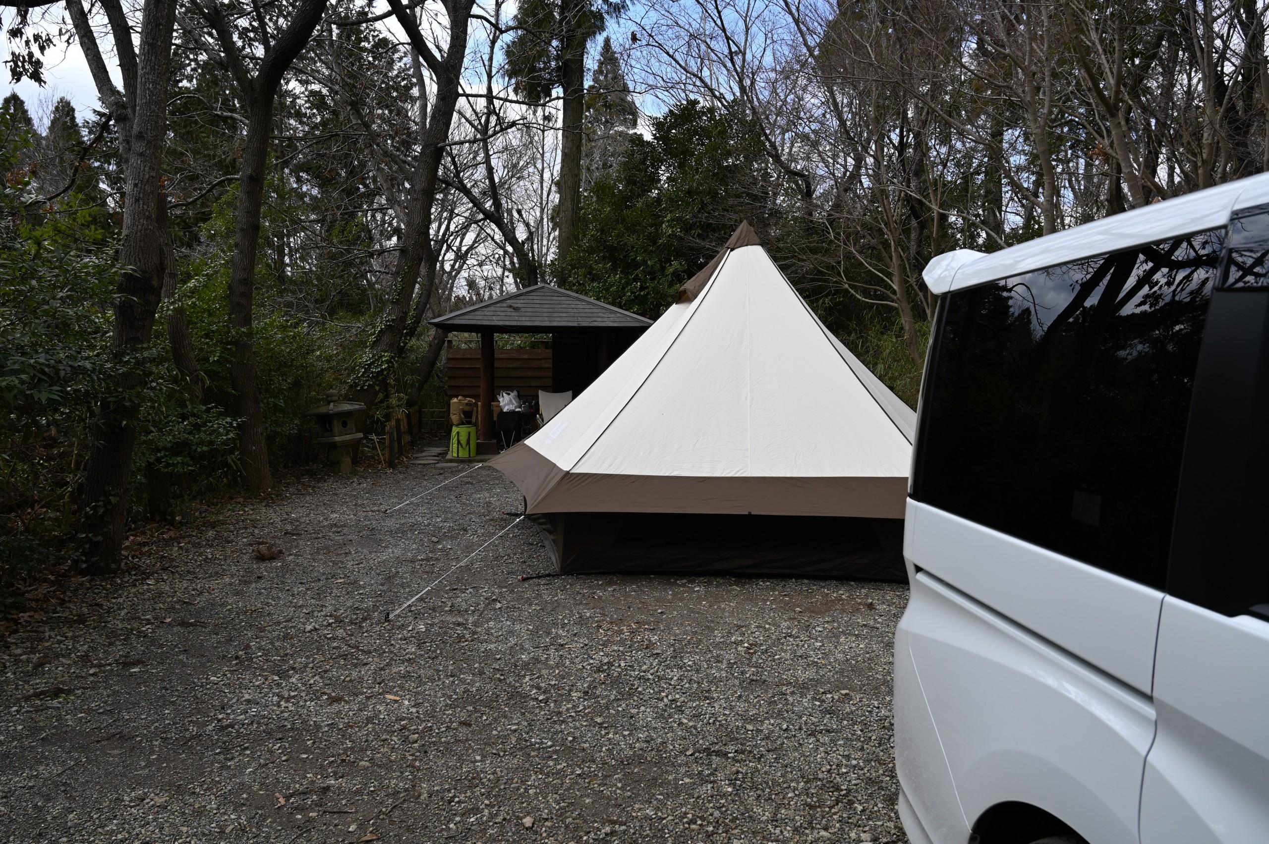 有野実苑のキャンパーズテラスサイトで父子3人まったりキャンプ
