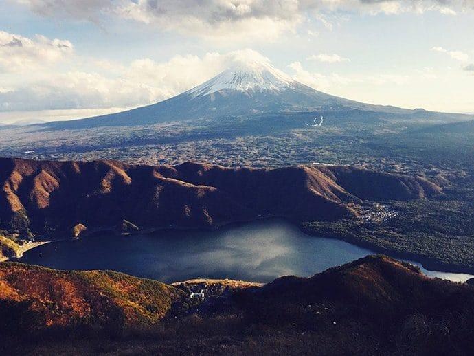 浩庵(こうあん)キャンプ場 お札に書かれた富士山を楽しめる