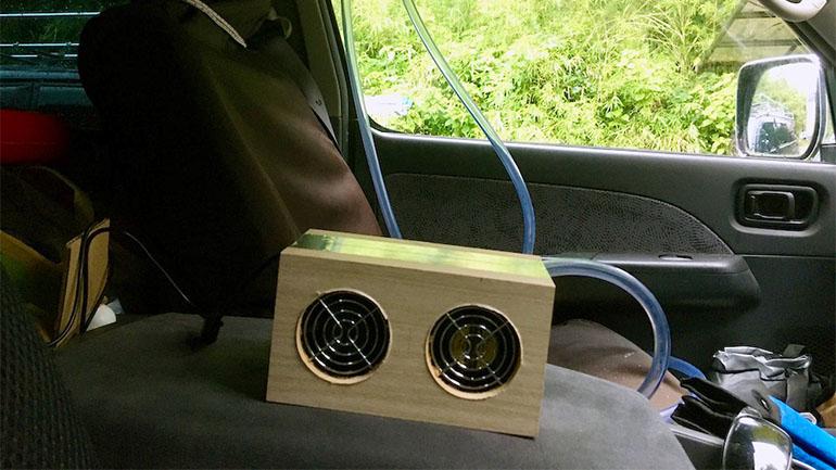 盛夏へ向けて車内の暑さ対策、換気扇を作ってみた