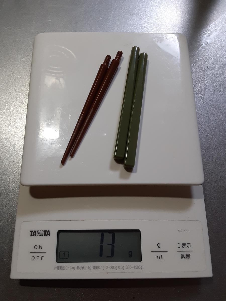 セリアでキャンプ用の携帯お箸を買ってみたよ