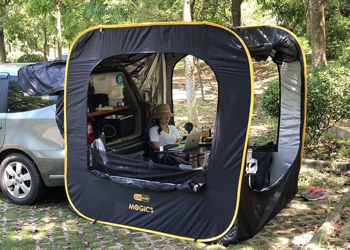 車に接続できる四角いテント?『CARSULE』でアウトドアをもっと自由にしよう!
