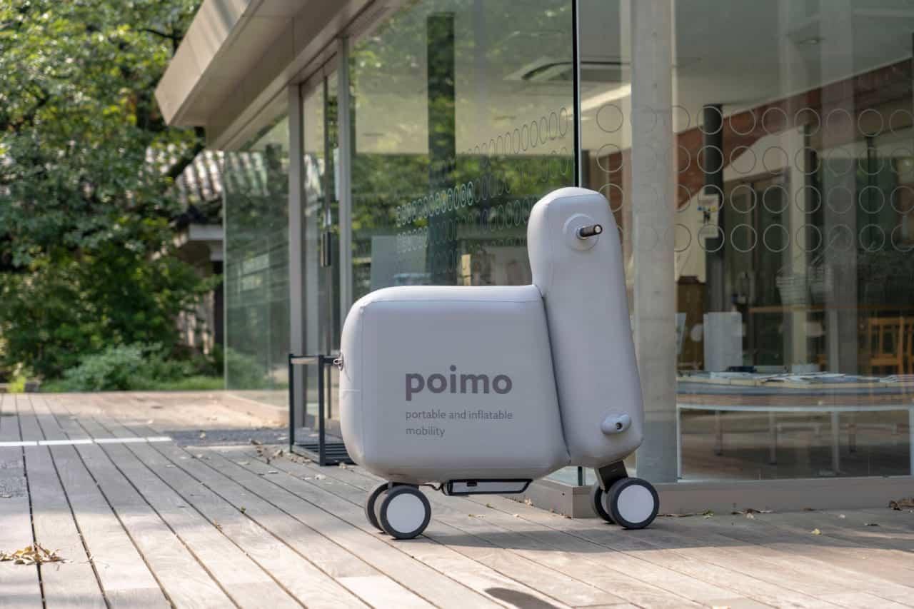 中身は空気!開発中の近未来型モビリティ『poimo』