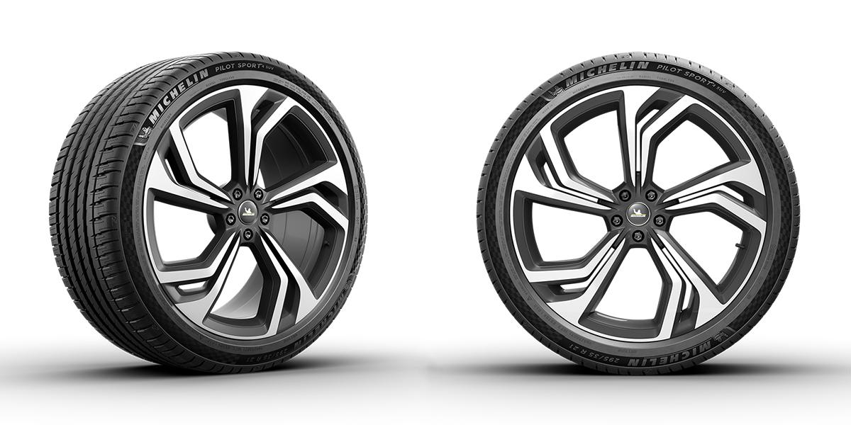 ミシュラン・パイロットスポーツ4SUVが進化! タイヤ全周にチェッカーフラッグが浮かび上がる上質デザインに