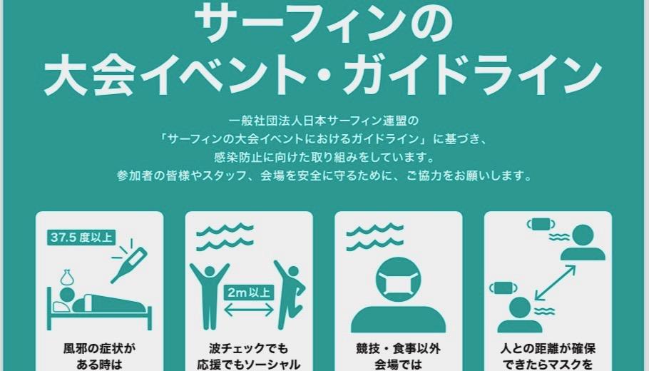 【日本サーフィン連盟】新型コロナウイルス感染症対策における大会イベント開催ガイドラインを発表