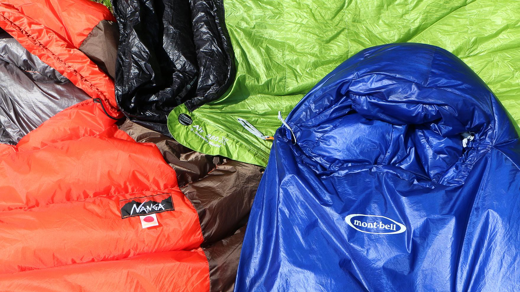 比較レビュー:夏用スリーピングバッグ モンベルの最新ハイテク寝袋の実力は?国内人気モデルと比較してみた