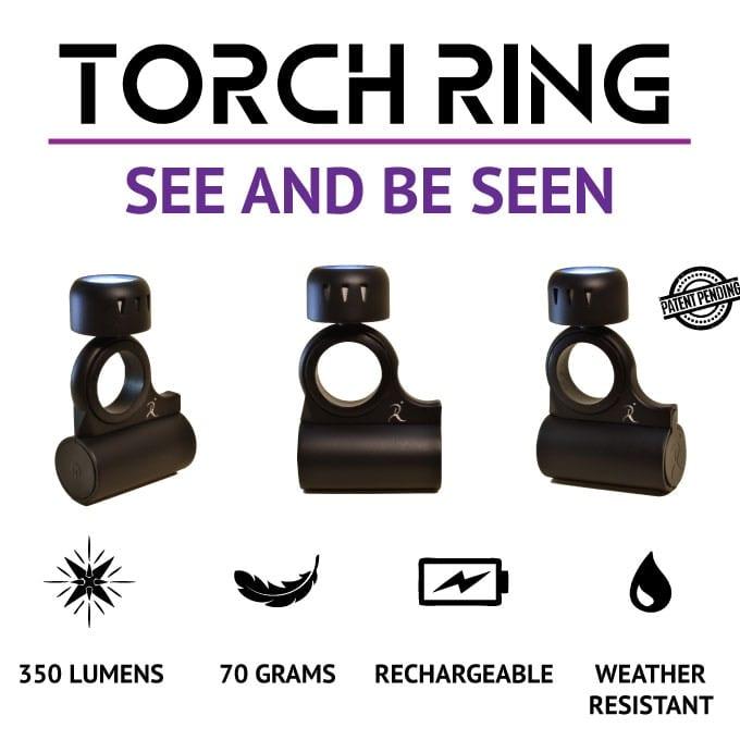 ランニングやアウトドアなどで活躍するユニークな形のLEDライト『Torch Ring』