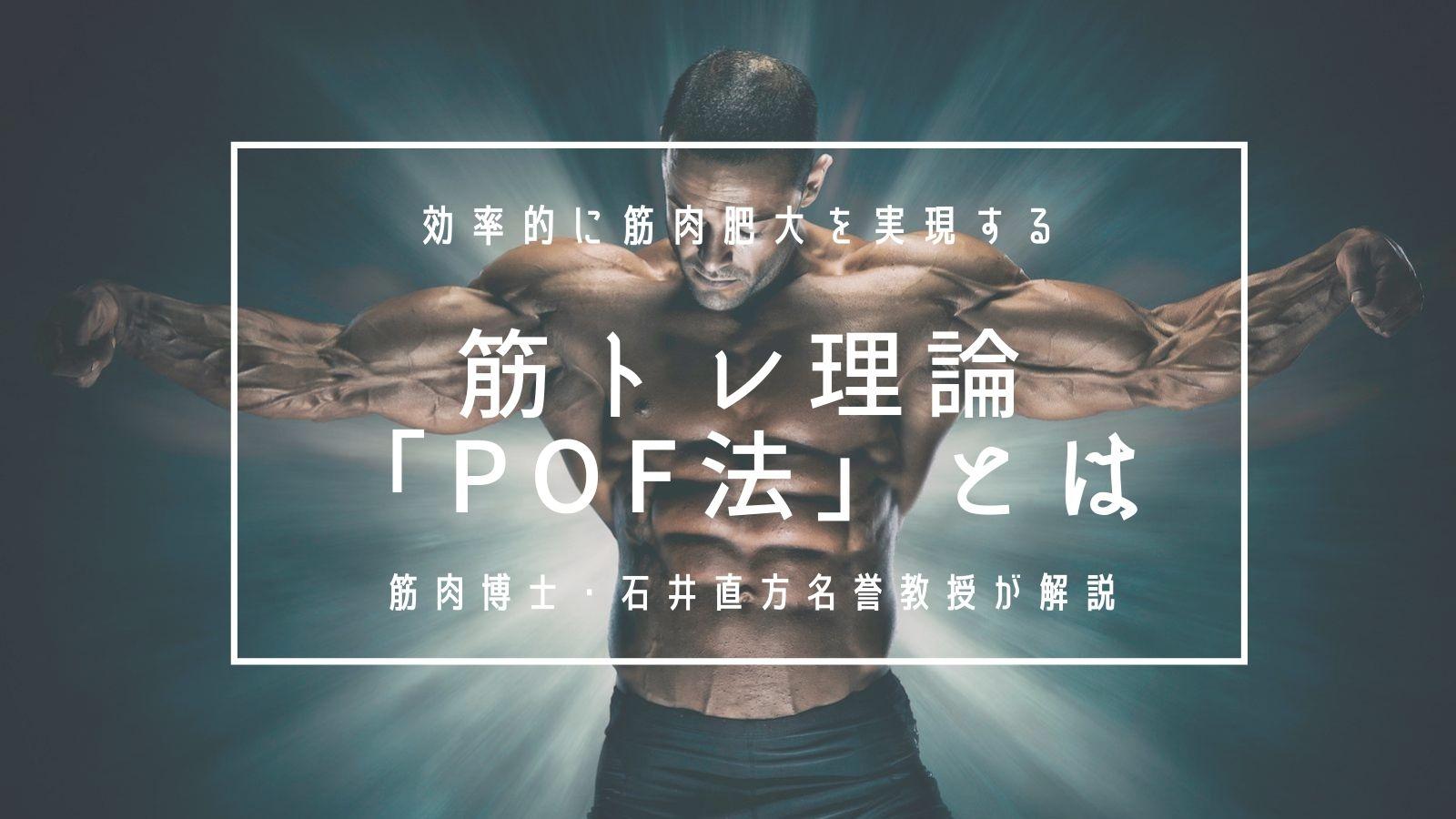 効率的に筋肉肥大を実現する筋トレ理論「POF法」とは。筋肉博士・石井直方名誉教授が解説