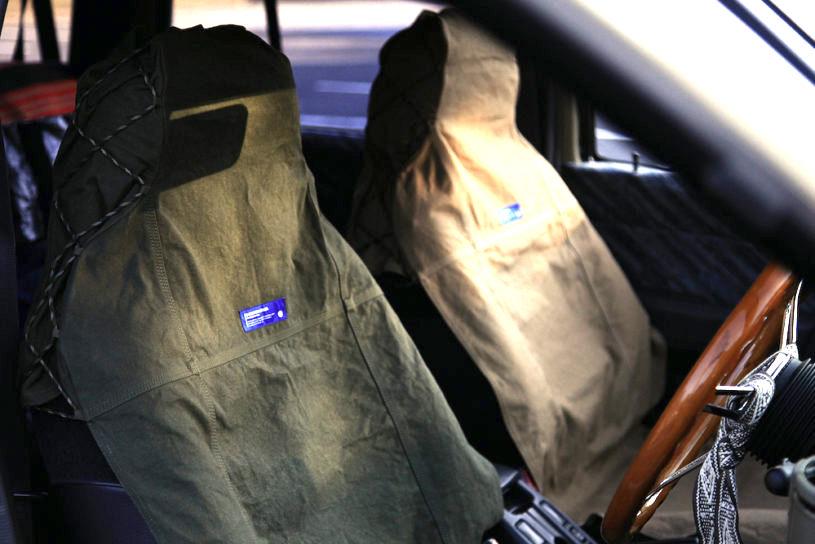 ゴードンミラーのダック地シートカバーで、男気あふれる車内空間に!