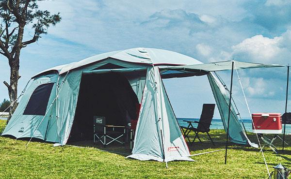 日差しの強い暑い日も安心、コールマンのダークルームテクノロジー搭載テントおすすめ8選
