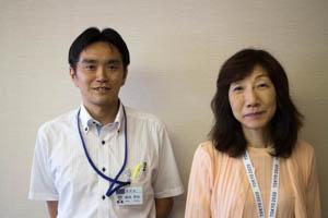 森田秀和さん(左)と中島博子さん(右)