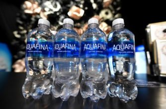 NEW YORK, NY - SEPTEMBER 11: A view of Aquafina on display at Skylight at Moynihan Station during New York Fashion Week: The Shows on September 11, 2016 in New York City.   Mike Coppola/Getty Images/AFP