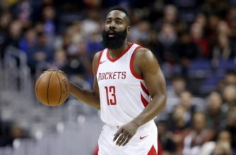 WASHINGTON, DC - DECEMBER 29: James Harden #13 of the Houston Rockets dribbles the ball against the Washington Wizards at Capital One Arena on December 29, 2017 in Washington, DC. NOTE TO USER: User expressly acknowledges and agrees that, by downloading and or using this photograph, User is consenting to the terms and conditions of the Getty Images License Agreement.   Rob Carr/Getty Images/AFP