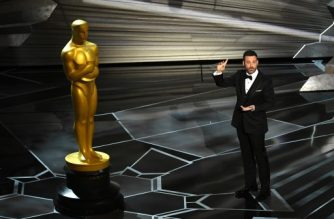 HOLLYWOOD, CA - MARCH 04: Host Jimmy Kimmel speaks onstage during the 90th Annual Academy Awards at the Dolby Theatre at Hollywood & Highland Center on March 4, 2018 in Hollywood, California.   Kevin Winter/Getty Images/AFP