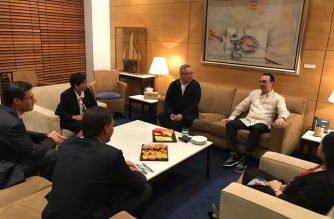 Foreign Affairs Secretary Alan Peter Cayetano arrives in Sydney, Australia to represent President Rodrigo Duterte in the Association of Southeast Asian Nations-Australia Special Summit. Accompanying him are Trade and Industry Secretary Ramon Lopez, Taguig Mayor Maria Laarni Cayetano and Ambassador to Canberra Minda Cruz.