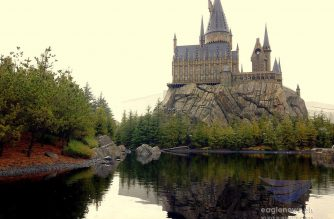 The Hogwarts Castle at the Wizarding World of Harry Potter at the Universal Studio Japan (USJ) in Osaka, Japan which attracts numerous visitors yearly.  (Photo by Tyra'nell Pille-Lu, EBC Japan/ Eagle News Service)