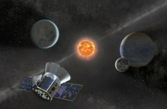 """(FILES)This undated NASA artist's illustration released on April 11, 2018 shows NASA's Transiting Exoplanet Survey Satellite (TESS) that is set to launch on a SpaceX Falcon 9 rocket from Space Launch Complex 40 at Cape Canaveral Air Force Station in Florida.  SpaceX announced on April 16, 2018, it was delaying the TESS launch from Cape Canaveral, Florida, to have more time to check the Falcon 9 rocket. The next attempt is scheduled for April 18. / AFP PHOTO / NASA / Handout / RESTRICTED TO EDITORIAL USE - MANDATORY CREDIT """"AFP PHOTO / NASA/HANDOUT"""" - NO MARKETING NO ADVERTISING CAMPAIGNS - DISTRIBUTED AS A SERVICE TO CLIENTS"""