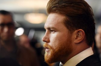 Boxer Canelo Alvarez poses during a news conference at the Microsoft Theater at L.A. Live to announce the upcoming rematch against Gennady Golovkin on February 27, 2018 in Los Angeles, California. He eventually withdrew after failing two drug tests in his hometown in Guadalajara, Mexico.   Kevork Djansezian/Getty Images/AFP