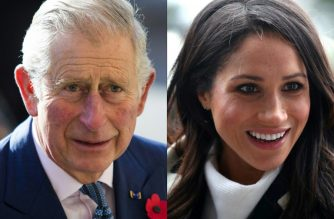 """(COMBO) This combination of file pictures created on May 18, 2018 shows Britain's Prince Charles, Prince of Wales arriving at the Natural History Museum in London on November 02, 2016 and Britain's Prince Harry's fiancee US actress Meghan Markle greeting well-wishers as she arrives with the prince at Millennium Point to attend an event hosted by social enterprise Stemettes to celebrate International Women's Day in Birmingham on March 08, 2018.  Prince Charles will walk Meghan Markle down the aisle during her marriage to his son Prince Harry after her father pulled out of the ceremony for health reasons, Kensington Palace announced on May 18, 2018.""""Ms Meghan Markle has asked His Royal Highness The Prince of Wales to accompany her down the aisle... on her wedding day,"""" said a palace statement.  / AFP PHOTO / POOL / Jack Taylor AND HANNAH MCKAY"""