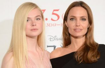 "US actresses Angelina Jolie (R) and Elle Fanning (L) pose during a photo session before a press conference to promote their latest film ""Maleficent"" in Tokyo on June 24, 2014. The film, which opened in the US in late May, will hit cinemas across Japan on July 5.     AFP PHOTO / Toru YAMANAKA / AFP PHOTO / TORU YAMANAKA"