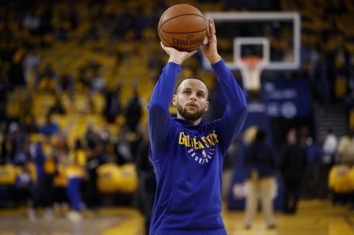 9d7e41bcc6fa Stephen Curry  30 of the Golden State Warriors warms up before their game  against the San Antonio Spurs during Game Five of Round One of the 2018 NBA  ...