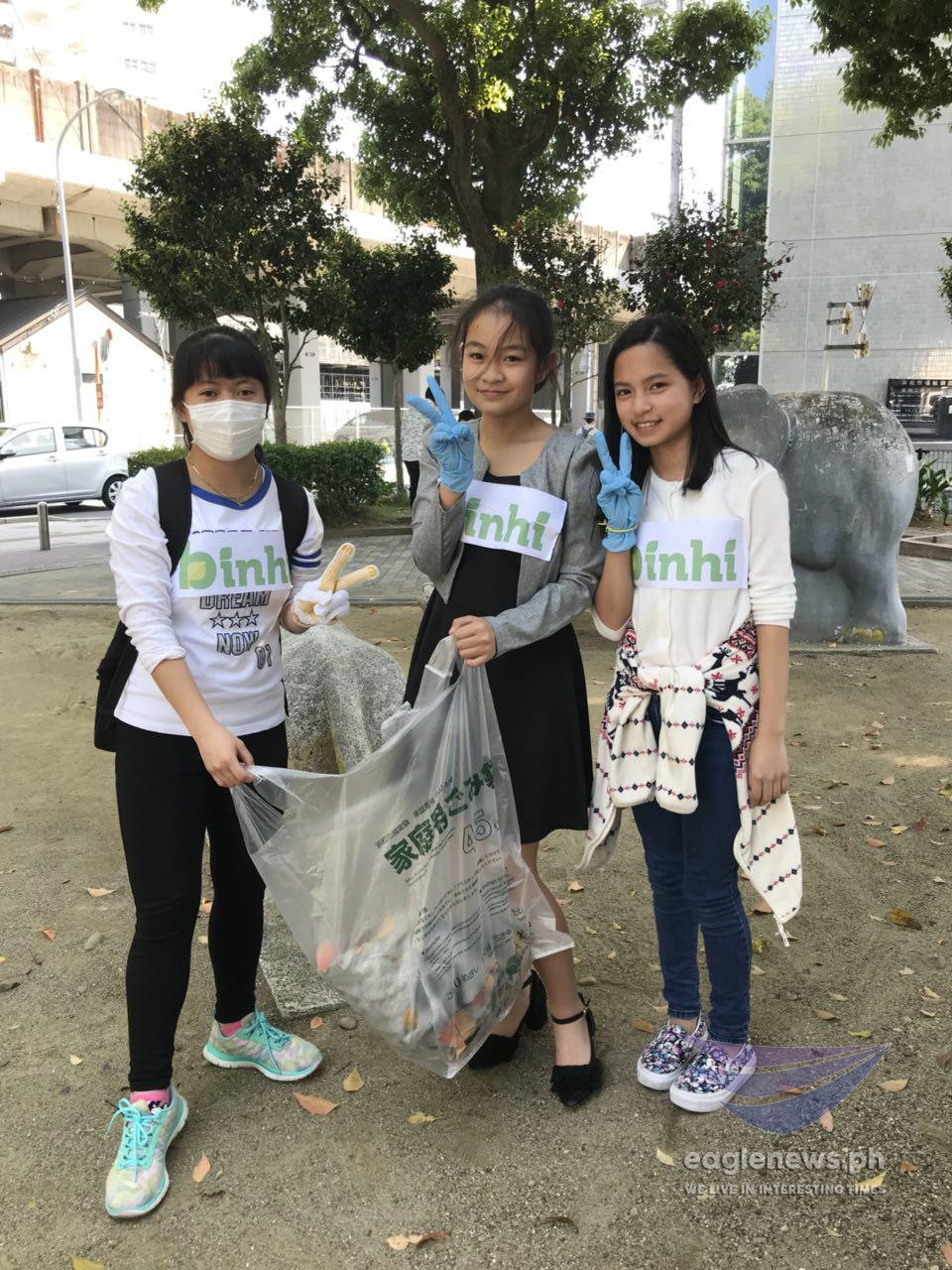 In photos:   Young INC members in Japan help clean up public places, join worldwide clean-up drive