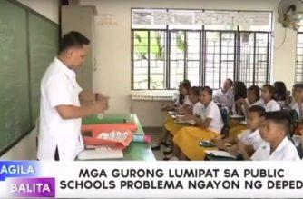 Mga gurong lumipat sa public schools, problema ngayon ng DepEd