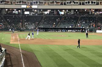 The Oklahoma City Dodgers out-hit the River Cats at Raley Field in Sacramento.Photo by Jason Tajima, EBC Sacramento Bureau.