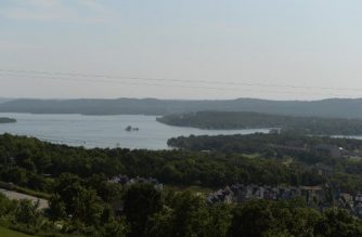 BRANSON, MO - JULY 20: An overall of Table Rock Lake is seen on July 20, 2018 in Branson, Missouri. Table Rock Lake was the sight of a Ride The Ducks Tours Duck Boat capsizing accident on July 19th that killed over 10 people.   Michael Thomas/Getty Images/AFP
