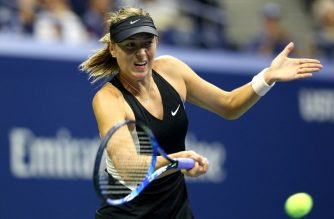 NEW YORK, NY - AUGUST 30: Maria Sharapova of Russia returns the ball during her women's singles second round match against Sorana Cirstea of Romania on Day Four of the 2018 US Open at the USTA Billie Jean King National Tennis Center on August 30, 2018 in the Flushing neighborhood of the Queens borough of New York City.   Alex Pantling/Getty Images/AFP