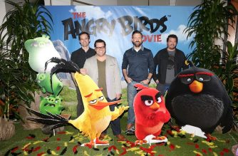 "FILES: CULVER CITY, CA - FEBRUARY 23: (L-R) Actors Bill Hader, Josh Gad, Jason Sudeikis and Danny McBride attend a photo call and Q&A session for a ""Sneak Beak"" of Columbia Pictures and Rovio Animations' ANGRY BIRDS at Sony Pictures Studios on February 23, 2016 in Culver City, California.   Jesse Grant/Getty Images for Sony Pictures Entertainment/AFP"