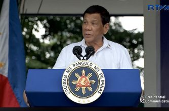 President Rodrigo Duterte speaking during the 117th Police Service Anniversary at the Philippine National Police headquarters in Camp Crame, Quezon City.  The President said he will not allow more casinos to operate in the country as he revealed the reason why he sacked the entire board and management of the Nayong Pilipino Foundation the previous day, August 7, 2018 (Photo grabbed from RTVM video)