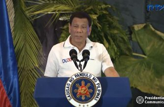 President Rodrigo Duterte speaking during the Conference of the League of Municipalities (LMP) Visayas Island Cluster in Cebu City on Tuesday, August 21, 2018.  (Photo grabbed from RTVM)