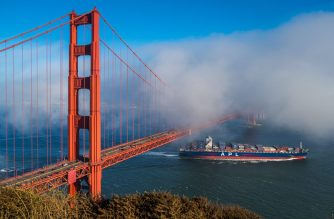 Fog rolls over the Golden Gate Bridge in San Franciso, California. Ericson Jarvina/EBC Washington D.C./Eagle News Service/