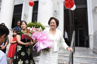 Supreme Court Associate Justice took her oath as the new Chief Justice on Tuesday, Aug. 29./Moira Encina/Eagle News/