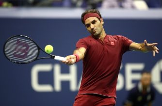 NEW YORK, NY - SEPTEMBER 03: Roger Federer of Switzerland returns the ball during the men's singles fourth round match against John Milman of Australia on Day Eight of the 2018 US Open at the USTA Billie Jean King National Tennis Center on September 3, 2018 in the Flushing neighborhood of the Queens borough of New York City.   Julian Finney/Getty Images/AFP