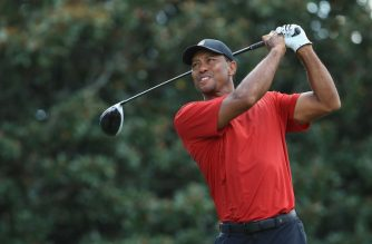 ATLANTA, GA - SEPTEMBER 23: Tiger Woods of the United States plays his shot from the 14th tee during the final round of the TOUR Championship at East Lake Golf Club on September 23, 2018 in Atlanta, Georgia.   Sam Greenwood/Getty Images/AFP
