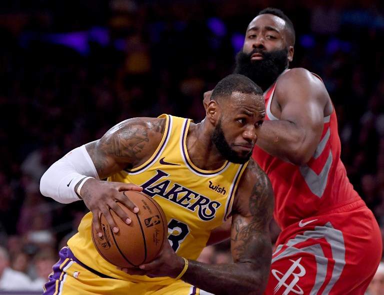 31482436e5c LeBron James  23 of the Los Angeles Lakers drives on James Harden  13 of  the Houston Rockets during a 124-115 Rockets win at Staples Center on  October 20