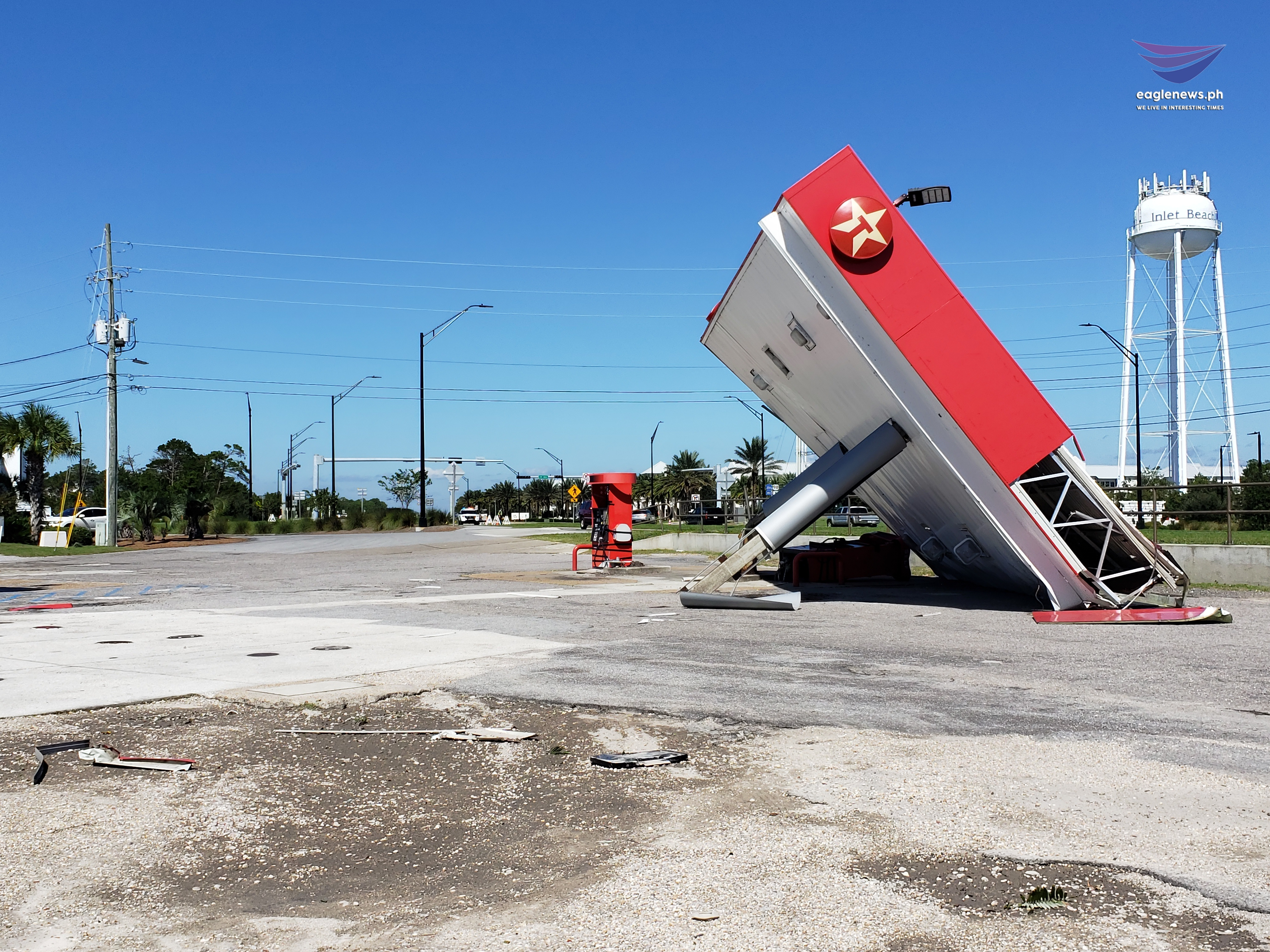 #EBCPhotojournalism: Gas Station collapses under force of Hurricane Michael
