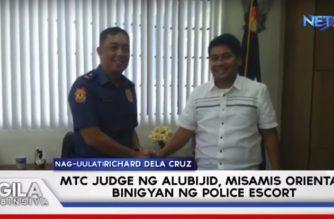 MTC judge ng Alubijid, Misamis Oriental, nagpasalamat sa ibinigay na police escort
